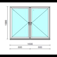 TO Ny-Ny ablak.  160x130 cm (Rendelhető méretek: szélesség 155-164 cm, magasság 125-134 cm.)   Optima 76 profilból