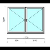 TO Ny-Ny ablak.  170x120 cm (Rendelhető méretek: szélesség 165-174 cm, magasság 115-124 cm.)   Optima 76 profilból