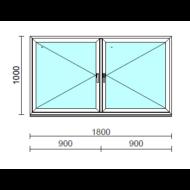 TO Ny-Ny ablak.  180x100 cm (Rendelhető méretek: szélesség 175-180 cm, magasság 95-104 cm.)   Optima 76 profilból