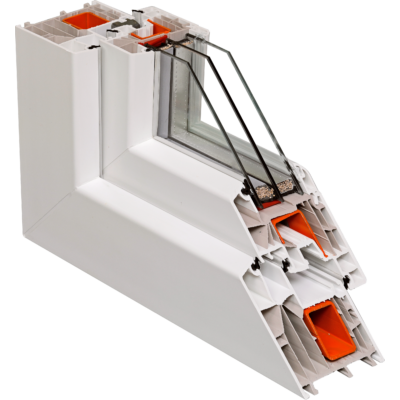 Fix ablak.   80x130 cm (Rendelhető méretek: szélesség 75-84 cm, magasság 125-134 cm.) Deluxe A85 profilból