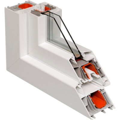 Fix ablak.   50x120 cm (Rendelhető méretek: szélesség 50-54 cm, magasság 115-124 cm.)  New Balance 85 profilból