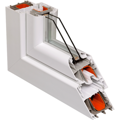 Fix ablak.  120x240 cm (Rendelhető méretek: szélesség 115-124 cm, magasság 235-240 cm.)   Optima 76 profilból