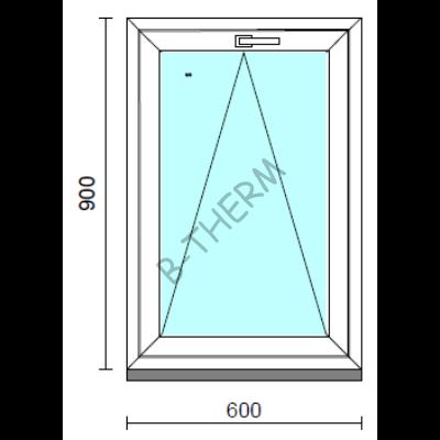 Bukó ablak.   60x 90 cm (Rendelhető méretek: szélesség 55- 64 cm, magasság 85- 90 cm.)  New Balance 85 profilból