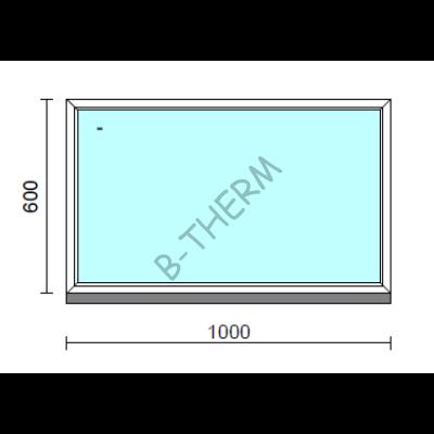 Fix ablak.  100x 60 cm (Rendelhető méretek: szélesség 95-104 cm, magasság 55-64 cm.)   Optima 76 profilból