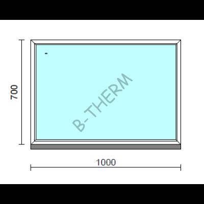 Fix ablak.  100x 70 cm (Rendelhető méretek: szélesség 95-104 cm, magasság 65-74 cm.)   Optima 76 profilból
