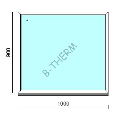Fix ablak.  100x 90 cm (Rendelhető méretek: szélesség 95-104 cm, magasság 85-94 cm.)  New Balance 85 profilból