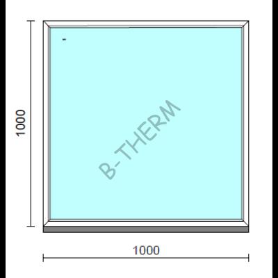 Fix ablak.  100x100 cm (Rendelhető méretek: szélesség 95-104 cm, magasság 95-104 cm.)  New Balance 85 profilból