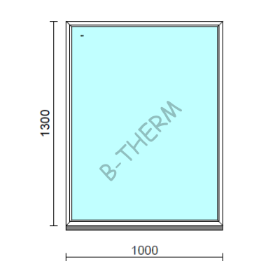 Fix ablak.  100x130 cm (Rendelhető méretek: szélesség 95-104 cm, magasság 125-134 cm.)  New Balance 85 profilból