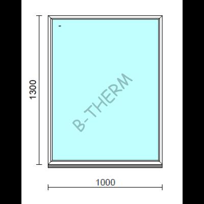 Fix ablak.  100x130 cm (Rendelhető méretek: szélesség 95-104 cm, magasság 125-134 cm.)   Optima 76 profilból