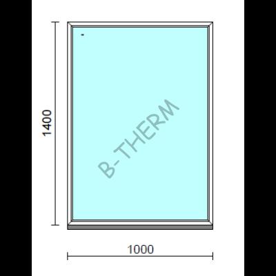 Fix ablak.  100x140 cm (Rendelhető méretek: szélesség 95-104 cm, magasság 135-144 cm.)   Optima 76 profilból