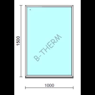 Fix ablak.  100x150 cm (Rendelhető méretek: szélesség 95-104 cm, magasság 145-154 cm.)  New Balance 85 profilból