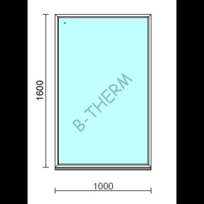 Fix ablak.  100x160 cm (Rendelhető méretek: szélesség 95-104 cm, magasság 155-164 cm.)  New Balance 85 profilból