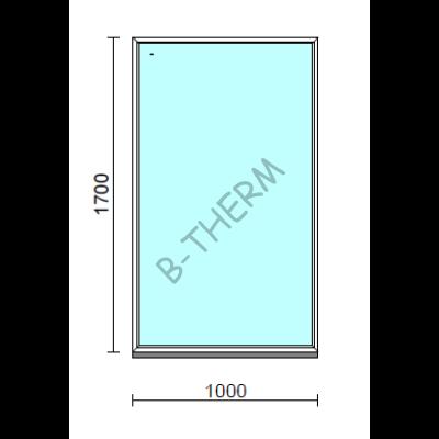 Fix ablak.  100x170 cm (Rendelhető méretek: szélesség 95-104 cm, magasság 165-174 cm.)   Optima 76 profilból