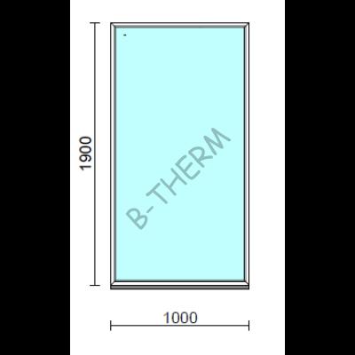 Fix ablak.  100x190 cm (Rendelhető méretek: szélesség 95-104 cm, magasság 185-194 cm.)   Optima 76 profilból