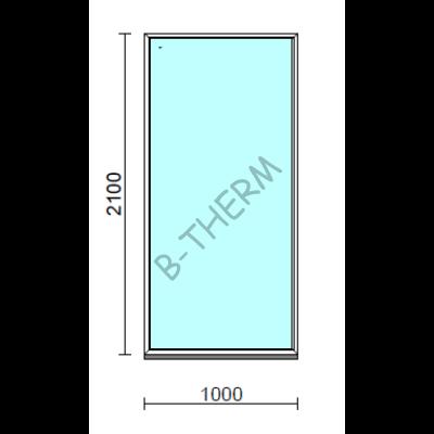 Fix ablak.  100x210 cm (Rendelhető méretek: szélesség 95-104 cm, magasság 205-214 cm.)  New Balance 85 profilból