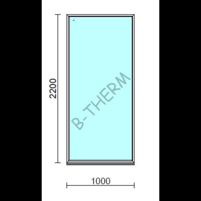 Fix ablak.  100x220 cm (Rendelhető méretek: szélesség 95-104 cm, magasság 215-224 cm.)  New Balance 85 profilból