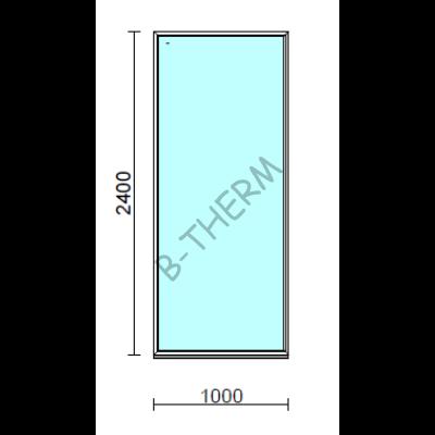 Fix ablak.  100x240 cm (Rendelhető méretek: szélesség 95-104 cm, magasság 235-240 cm.)   Optima 76 profilból