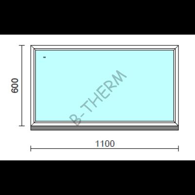 Fix ablak.  110x 60 cm (Rendelhető méretek: szélesség 105-114 cm, magasság 55-64 cm.)  New Balance 85 profilból