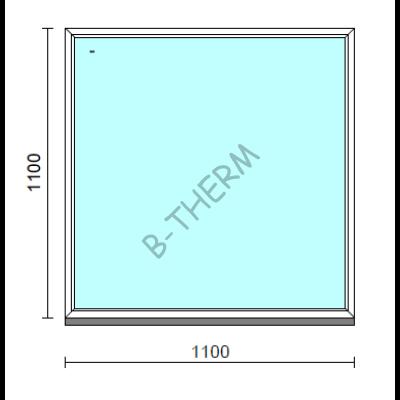 Fix ablak.  110x110 cm (Rendelhető méretek: szélesség 105-114 cm, magasság 105-114 cm.)  New Balance 85 profilból