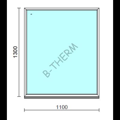 Fix ablak.  110x130 cm (Rendelhető méretek: szélesség 105-114 cm, magasság 125-134 cm.)   Optima 76 profilból
