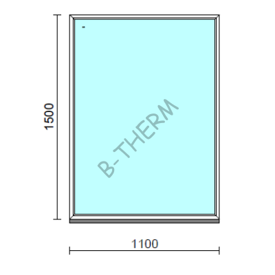 Fix ablak.  110x150 cm (Rendelhető méretek: szélesség 105-114 cm, magasság 145-154 cm.)  New Balance 85 profilból