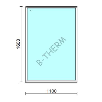 Fix ablak.  110x160 cm (Rendelhető méretek: szélesség 105-114 cm, magasság 155-164 cm.)  New Balance 85 profilból