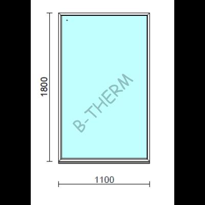 Fix ablak.  110x180 cm (Rendelhető méretek: szélesség 105-114 cm, magasság 175-184 cm.)   Optima 76 profilból