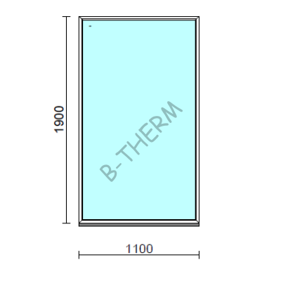 Fix ablak.  110x190 cm (Rendelhető méretek: szélesség 105-114 cm, magasság 185-194 cm.)  New Balance 85 profilból