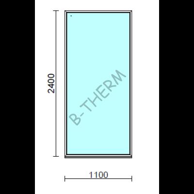 Fix ablak.  110x240 cm (Rendelhető méretek: szélesség 105-114 cm, magasság 235-240 cm.)   Optima 76 profilból