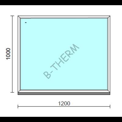 Fix ablak.  120x100 cm (Rendelhető méretek: szélesség 115-124 cm, magasság 95-104 cm.)   Optima 76 profilból