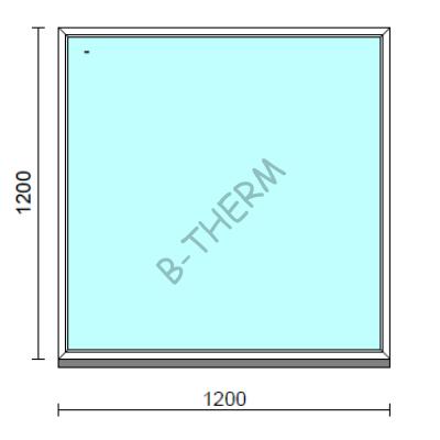 Fix ablak.  120x120 cm (Rendelhető méretek: szélesség 115-124 cm, magasság 115-124 cm.)  New Balance 85 profilból