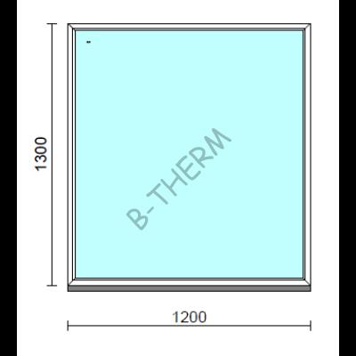 Fix ablak.  120x130 cm (Rendelhető méretek: szélesség 115-124 cm, magasság 125-134 cm.)  New Balance 85 profilból