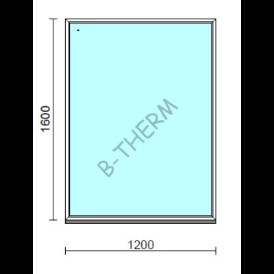 Fix ablak.  120x160 cm (Rendelhető méretek: szélesség 115-124 cm, magasság 155-164 cm.)   Optima 76 profilból