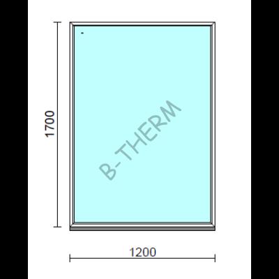 Fix ablak.  120x170 cm (Rendelhető méretek: szélesség 115-124 cm, magasság 165-174 cm.)   Optima 76 profilból