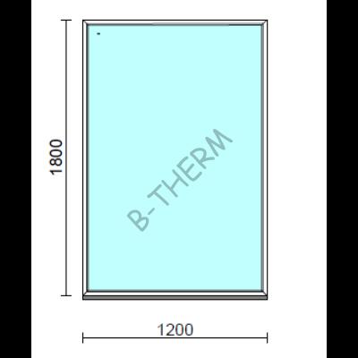 Fix ablak.  120x180 cm (Rendelhető méretek: szélesség 115-124 cm, magasság 175-184 cm.)   Optima 76 profilból