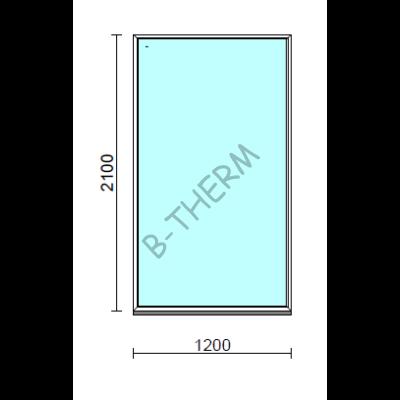 Fix ablak.  120x210 cm (Rendelhető méretek: szélesség 115-124 cm, magasság 205-214 cm.)   Optima 76 profilból