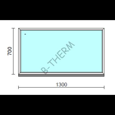 Fix ablak.  130x 70 cm (Rendelhető méretek: szélesség 125-134 cm, magasság 65-74 cm.)  New Balance 85 profilból