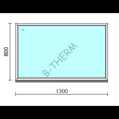 Fix ablak.  130x 80 cm (Rendelhető méretek: szélesség 125-134 cm, magasság 75-84 cm.)  New Balance 85 profilból