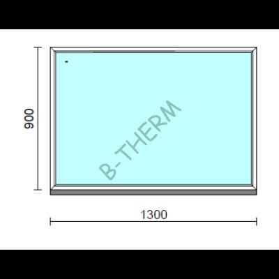Fix ablak.  130x 90 cm (Rendelhető méretek: szélesség 125-134 cm, magasság 85-94 cm.)  New Balance 85 profilból