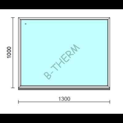 Fix ablak.  130x100 cm (Rendelhető méretek: szélesség 125-134 cm, magasság 95-104 cm.)   Optima 76 profilból