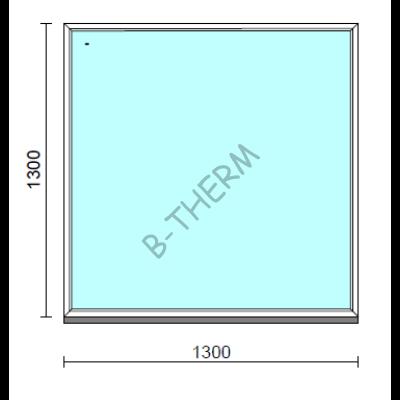 Fix ablak.  130x130 cm (Rendelhető méretek: szélesség 125-134 cm, magasság 125-134 cm.)  New Balance 85 profilból