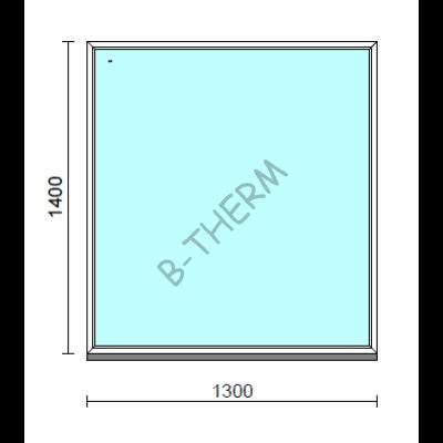 Fix ablak.  130x140 cm (Rendelhető méretek: szélesség 125-134 cm, magasság 135-144 cm.)   Optima 76 profilból
