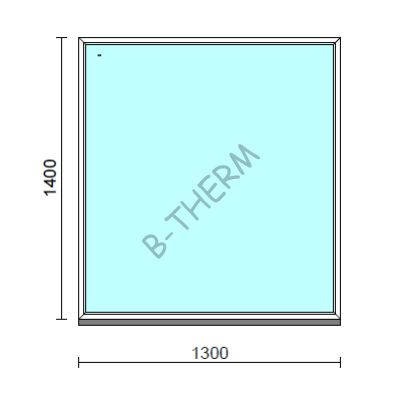 Fix ablak.  130x140 cm (Rendelhető méretek: szélesség 125-134 cm, magasság 135-144 cm.)  New Balance 85 profilból
