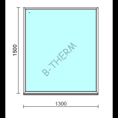 Fix ablak.  130x150 cm (Rendelhető méretek: szélesség 125-134 cm, magasság 145-154 cm.)   Optima 76 profilból