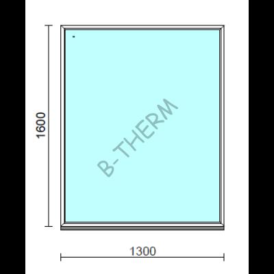 Fix ablak.  130x160 cm (Rendelhető méretek: szélesség 125-134 cm, magasság 155-164 cm.)   Optima 76 profilból