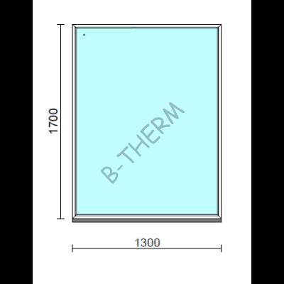 Fix ablak.  130x170 cm (Rendelhető méretek: szélesség 125-134 cm, magasság 165-174 cm.)   Optima 76 profilból
