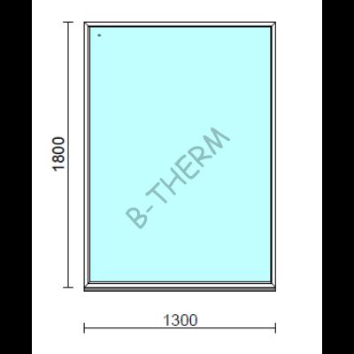 Fix ablak.  130x180 cm (Rendelhető méretek: szélesség 125-134 cm, magasság 175-184 cm.)   Optima 76 profilból