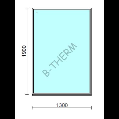 Fix ablak.  130x190 cm (Rendelhető méretek: szélesség 125-134 cm, magasság 185-194 cm.)   Optima 76 profilból