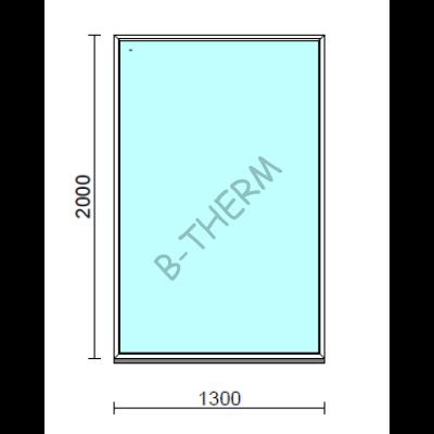 Fix ablak.  130x200 cm (Rendelhető méretek: szélesség 125-134 cm, magasság 195-204 cm.)   Optima 76 profilból