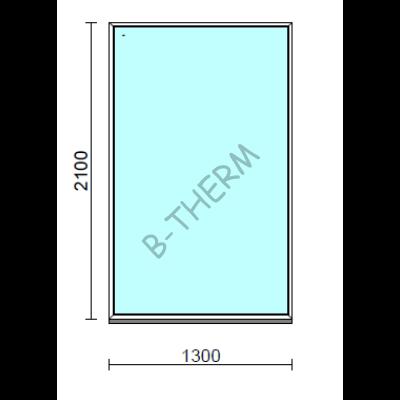 Fix ablak.  130x210 cm (Rendelhető méretek: szélesség 125-134 cm, magasság 205-214 cm.)  New Balance 85 profilból